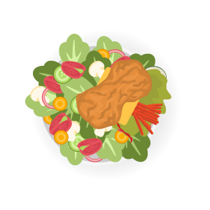 rántottcsirkemell_salátával